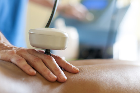 tecartherapy massage Standard-Bild