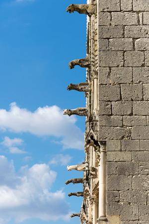 gargoyles: Bourges cathedral gargoyles, France Stock Photo