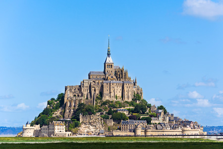 mont saint michel: Mont Saint Michel Abbey. France Stock Photo