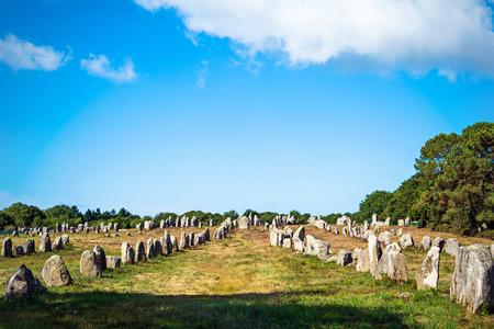 Menhirs alignment. Carnac, Britain