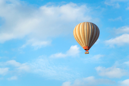 on air: hot air balloon in the sky