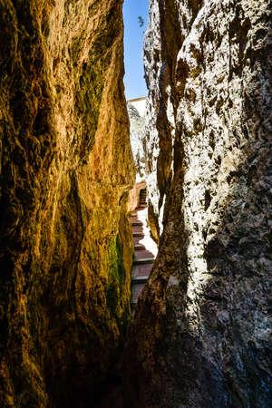 Gaeta with 'Montagna Spaccata' broken mountain and 'Grotta del Turco' cave. Province of Latina, Italy Standard-Bild
