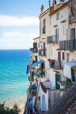 Sperlonga, the touristic white city on the sea, province of Latina. Italy.