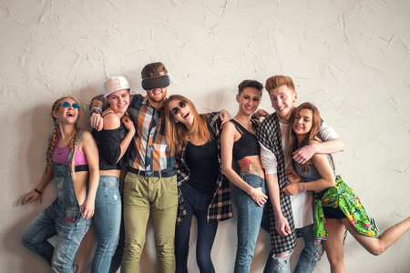 group of best friends having fun and enjoy Archivio Fotografico