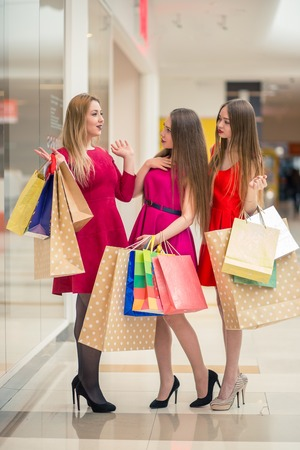 Group Of People Shopping at mall Concept