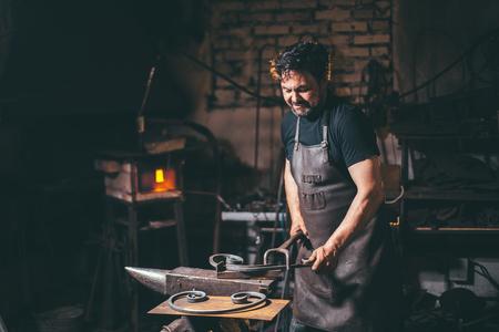 Forge, blacksmiths work, hot metal