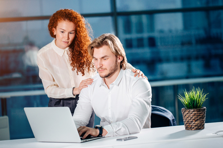 We already have great results. woman pointing at laptop