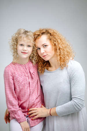 Mother and daughter close up background. Foto de archivo
