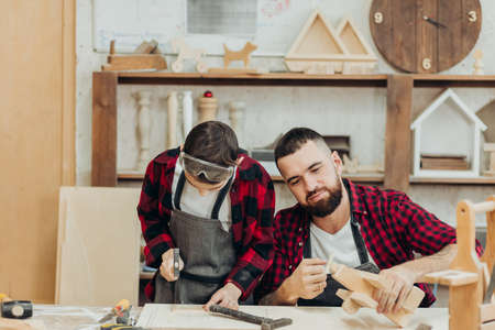 In carpentry coworking studio children and youngsters can learn a useful profession together with Dad. There are carpentry classes for beginners in the Daddy-son format in wooden workshop.