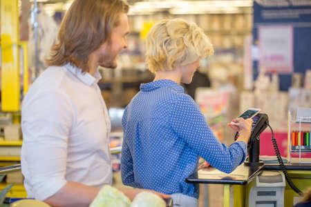 it could be much more easier for young people, youngsters, to check out at the grocery counter, retailer, with credit card.