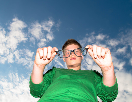 Young man with glasses photo
