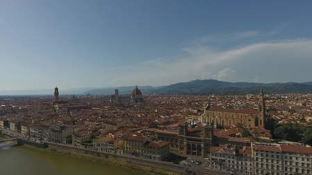 Cityscape of Florence with the Cathedral Santa Maria del Fiore, Florence, Tuscany, Italy.