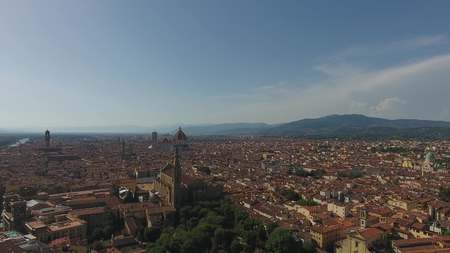 Beautiful Cityscape of Florence with the Cathedral Santa Maria del Fiore, Florence, Tuscany, Italy Banco de Imagens
