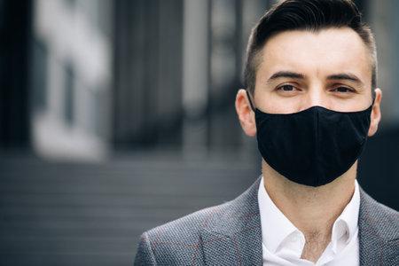 European man. Face mask for covid-19. Human masked for 2019-ncov. Crowd people sick covid-19. Europe infected corona virus 2019 ncov. Epidemic coronavirus. Pandemic flu corona virus