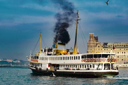 Black Ferry Boat Editorial