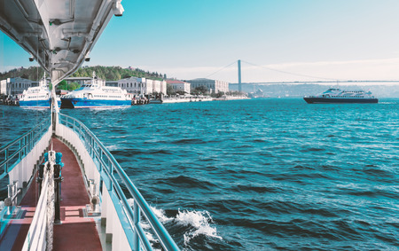 Bosphorus bridge view from the boat