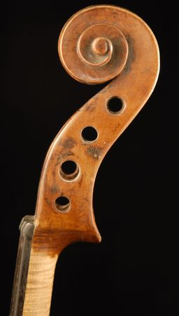 scroll of a violin Standard-Bild