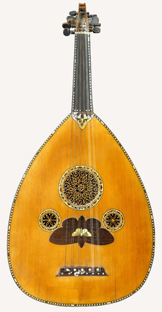 lute: image of the old turkish oud was isolated on PS    Stock Photo