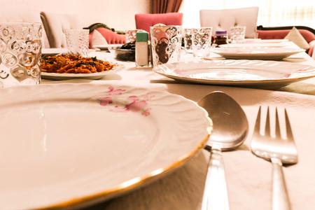 tableware, porcelain plate, family dinner