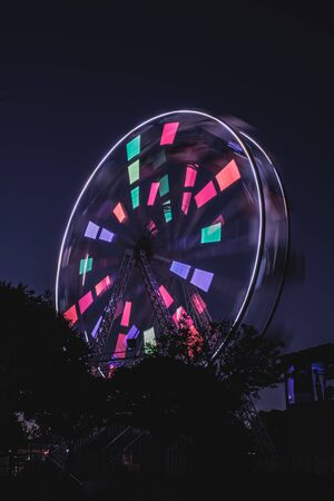Amusement park turning cabinet, light and color