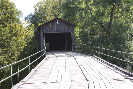 is covered: Old Covered Bridge