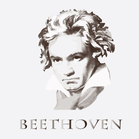 portrait of the composer and musician Ludwig van Beethoven
