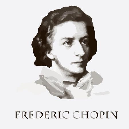 portret van de componist en muzikant Frederic Chopin