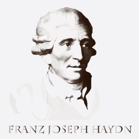 portrait of the composer and musician Joseph Haydn