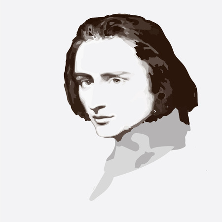 concerto: portrait of the composer and musician Franz Liszt