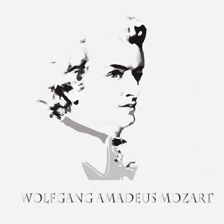 amadeus: portrait of the composer and musician Wolfgang Amadeus Mozart