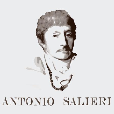 composer: portrait of the composer and musician Antonio Salieri