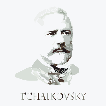 concerto: portrait of the composer and musician Pyotr Tchaikovsky