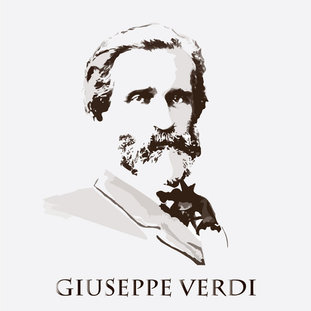 portrait of the composer and musician Giuseppe Verdi