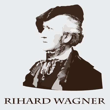 portrait of the composer and musician Richard Wagner