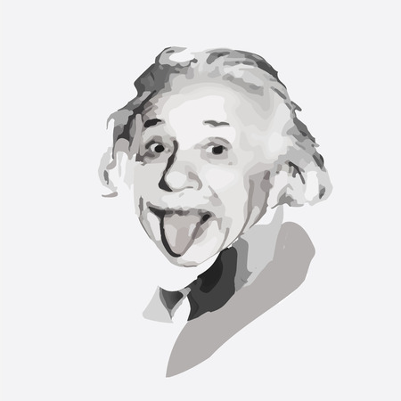 albert: vector portrait of the scientist physicist Albert Einstein