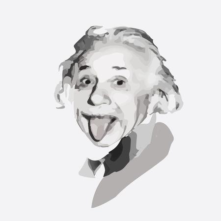 vector portret van de wetenschapper natuurkundige Albert Einstein Stock Illustratie