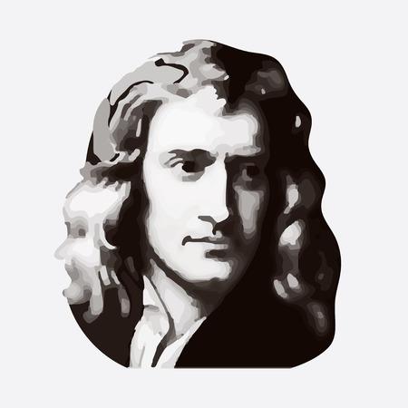 アイザック ・ ニュートン - 英語の物理学者および数学者、古典的な物理学の創設者の 1 つ。