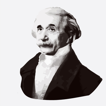 gaffer: vector portrait of the scientist physicist Albert Einstein