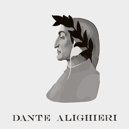 a poet: Dante Alighieri - a portrait of the Italian philosopher and poet