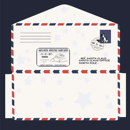 Santa Letter Envelope Template Muco Tadkanews Co