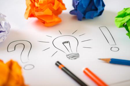 In search of a good idea Stok Fotoğraf - 37351047