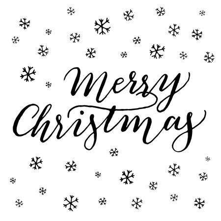 handwritten: Handwritten lettering Merry Christmas.