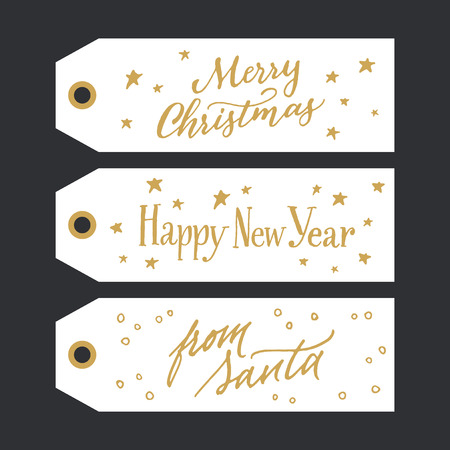 calligraphic design: Calligraphic design of gift tags with messages