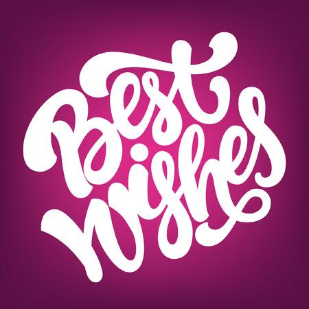 Lettres calligraphiées 'Best Wishes »pour la carte de voeux ou d'une affiche. Banque d'images - 48638294