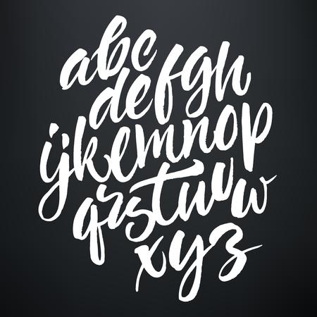 手書きベクター ブラシ スクリプトです。黒板背景に白い文字。  イラスト・ベクター素材