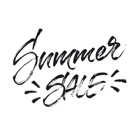 banner effect: Summer sale lettering with halftone effect. Isolated on white background. Inscription for summer sale banner, poster, card or shopping tag.