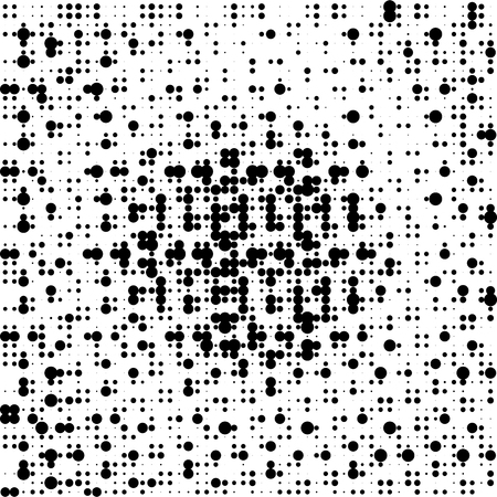 halftone: Halftone circle dots texture. Abstract black and white background. Illustration