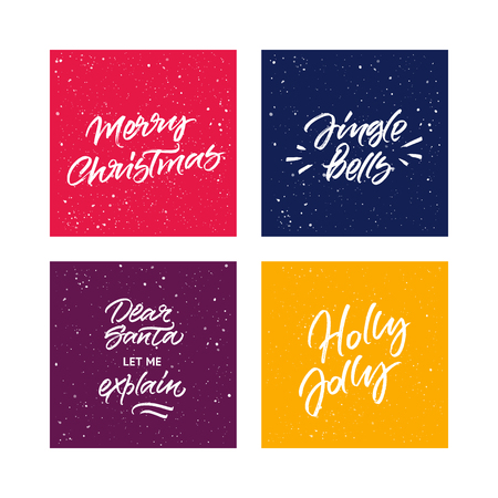 Set of handwritten greeting cards 向量圖像
