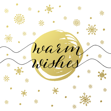 Warm wishes christmas and new year greeting card with handwritten vector warm wishes christmas and new year greeting card with handwritten calligraphy m4hsunfo