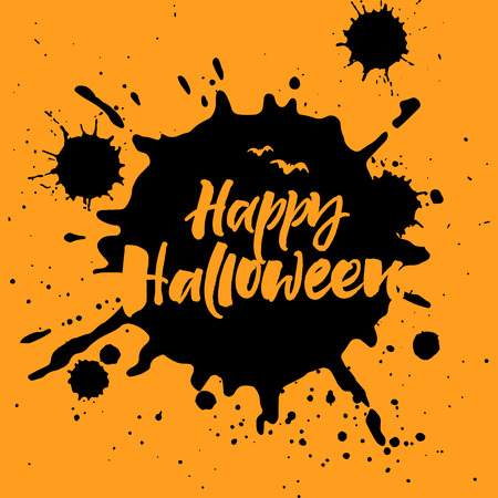 Happy Halloween greeting card 版權商用圖片 - 85642771